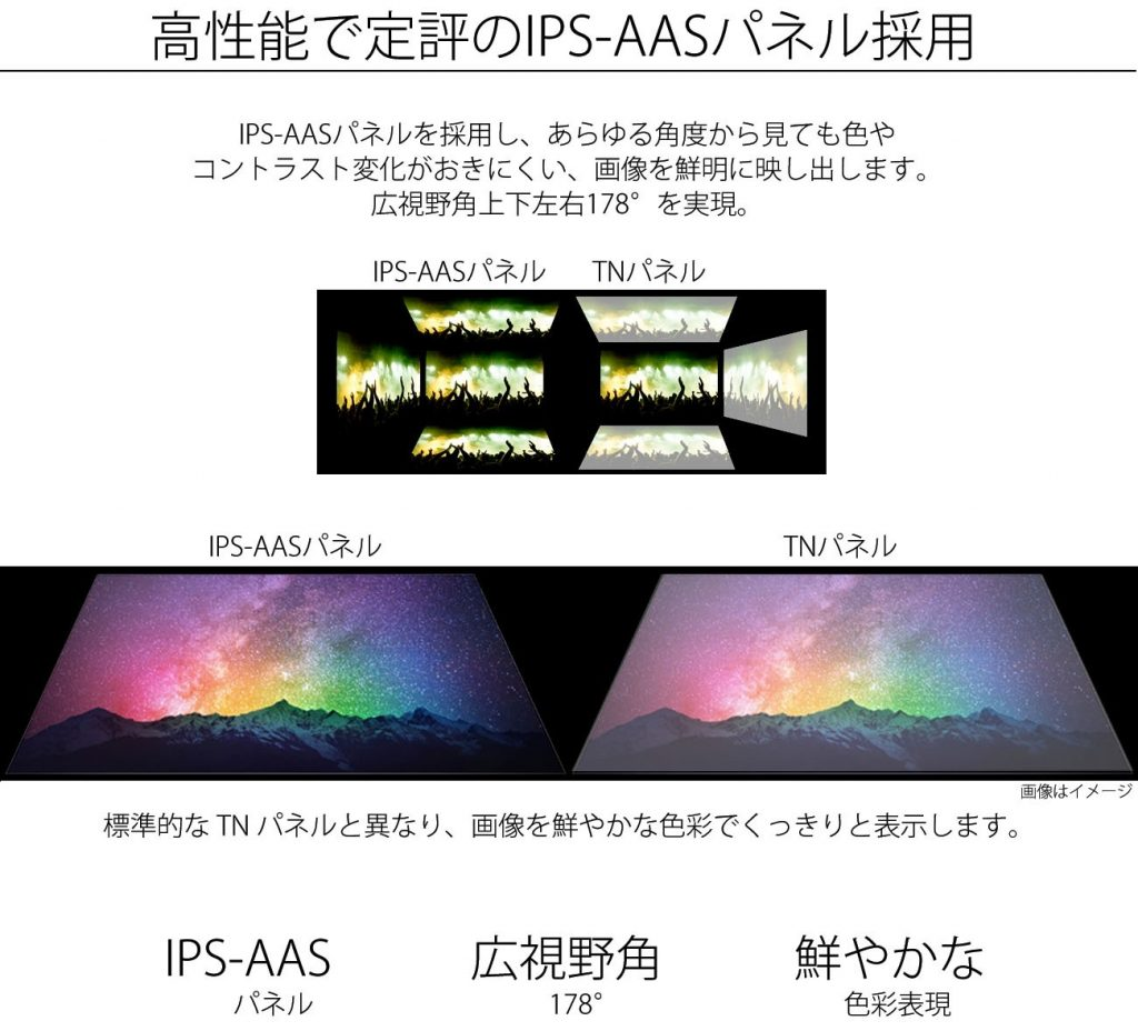 JN-IPS240UHD AAS 178 angle color white