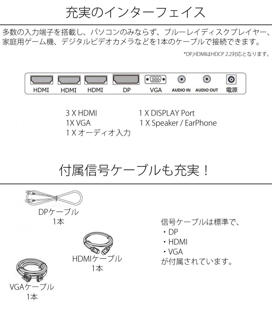 JN-IPS320UHDR-port-cable_white