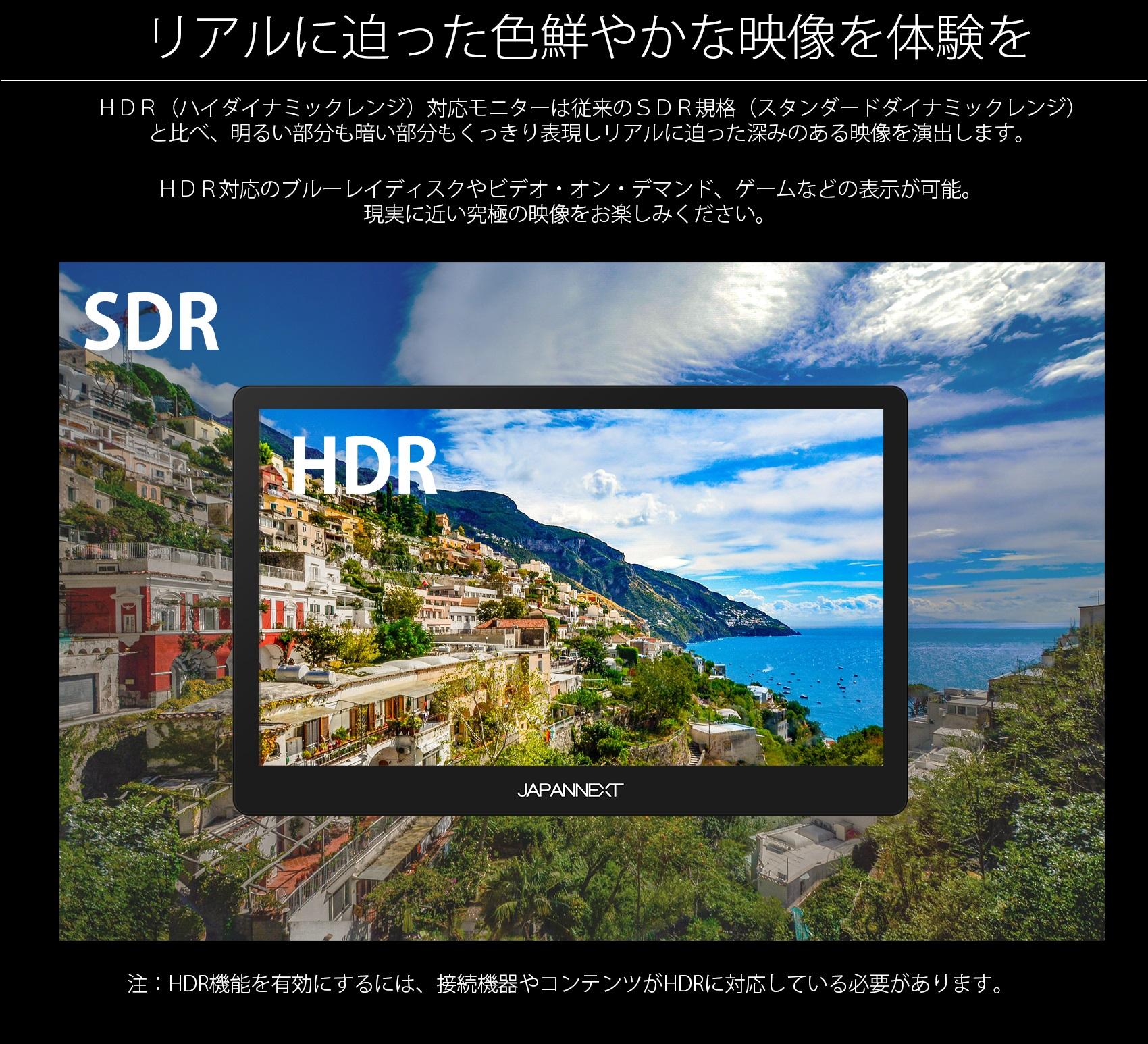 HDR対応でSDRより画質がよい。